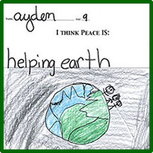 Helping earth drawing